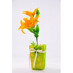 Лилия искусственная в горшке, микс цветов БФ30013