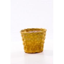 Кашпо из бамбука микс окрасок