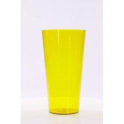 Вазон пластмассовый Туба Вулкано 15 желтый 2455-T05