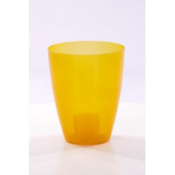 """Горшок пластиковый """"Эрия"""" 13 оранжевый прозрачный"""