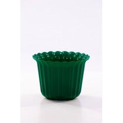 Кашпо пласт. мушелка зеленое d9см