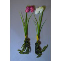 Цветок искусственный Рябчик шахматный с луковицей 30см микс KDGC546