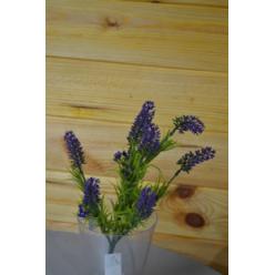 Цветок искусственный Лаванда букет 35см CV07411-W