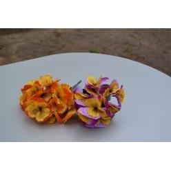 Цветок искусственный Анютины глазки букет 24см BUA4201
