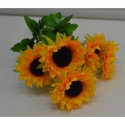 Цветок искусственный Подсолнух Х7 33см №1/05 QA052