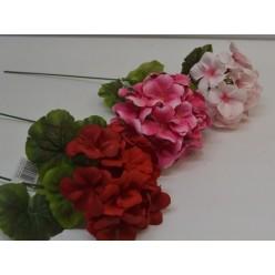 Цветок искусственный Пеларгония одиночная 40см №12.05
