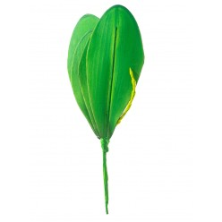 Орхидея лист иск. 24см d9
