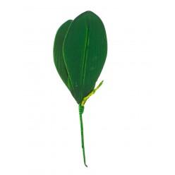Цветок искусственный Лист орхидеи средний №33.05