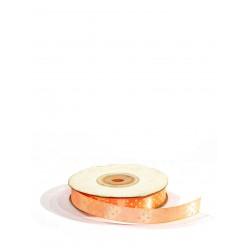 Лента атласная в горошек 1,2смх22,9м сальмон