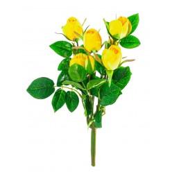 Цветок искусственный Роза букет микс  №495