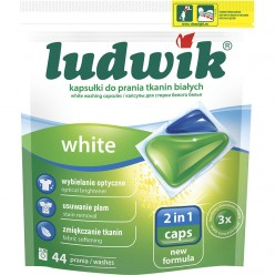 """Капсулы для стирки белых тканей WHITE 2 in 1 caps """"Ludwik"""", 44шт"""