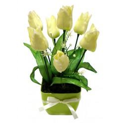 Тюльпан искусственный в горшке БФ20017