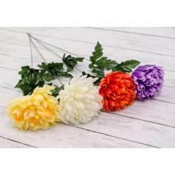 """Цветок искусственный """"Хризантема одиночная"""" микс окрасок арт. CH03034"""