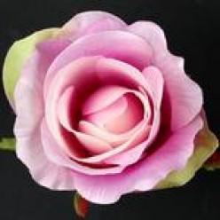 Цветок искусственный Роза головка в бутоне 10х6см микс W647