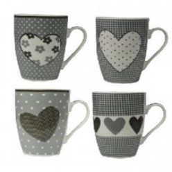 Чашка фарфоровая Сердце 345 мл LIL8869