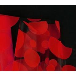 Фольга прозрачная с рисунком шарики красные M0024-01