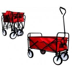 Тележка садовая складная 90х54 см красная WOZ3832