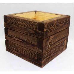 Кашпо деревянное 10,6 л (палисандр) 30х30х24 см