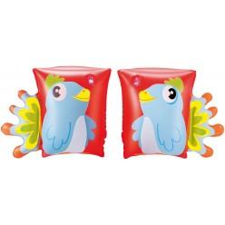 Нарукавники надувные для плавания Динозавр и Попугай  23 см х 15 см Bestway 32115