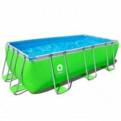 Бассейн каркасный зеленый 400 см х 200 см х 99 см (бассейн,помпа,опоры) Jilong 17525P