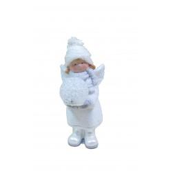 Фигурка керамическая Ангел со светящимся шаром 11,5см GOT9001