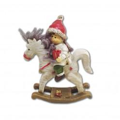 Фигурка керам. Мальчик на лошади 15 см арт. AAA744250