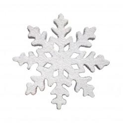 Снежинка 25 см серебряная