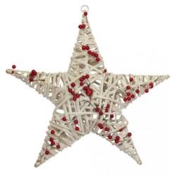 Звезда ёлочная из лозы 40 см арт. LIS5813