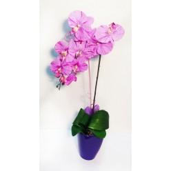 Орхидея элитная искусственная в горшке, микс цветов БФ01092