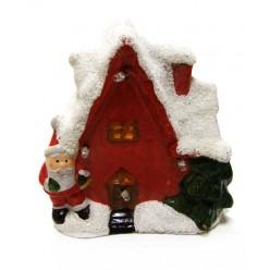 Домик керамический рождественский с подсветкой LED TG21929