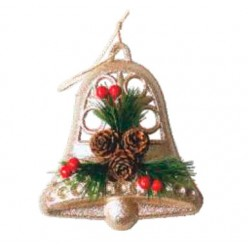 """Украшение рождественское """"Колокольчик с шишками подвесной"""" FTS6072"""