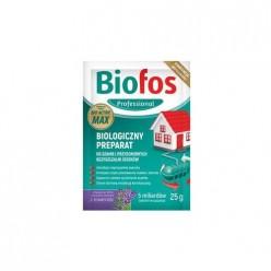Препарат для септиков и бытовых очистительных станций Biofos Professional саше 25г, 18 шт дисплей